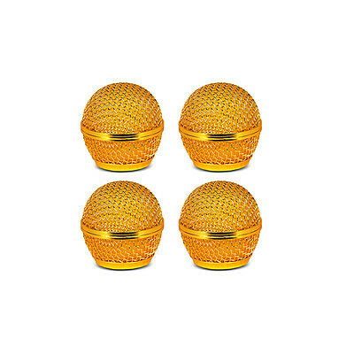 4pcs MicrophoneBall Grill Head Mesh Replacemen fits Shure Sm58 Beta58