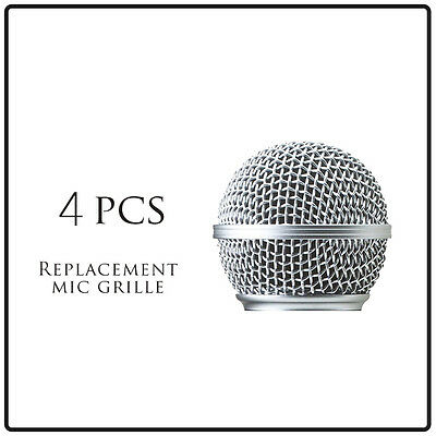 4pcs Microphone Ball Grill Head Mesh Replacemen fits Shure Sm 58 Beta 58