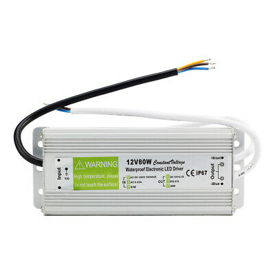 LED Strip Waterproof IP67 LED Driver Power Supply Transformer DC 12V 80W