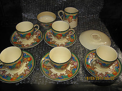 Ribstone Ware Damask Booths Lts Cups Saucers Etc Vgc Fantastic Colours / Pattern