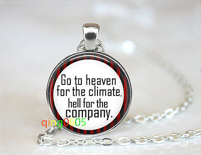 Highway to Hell glass dome Tibet silver Chain Pendant Necklace wholesale