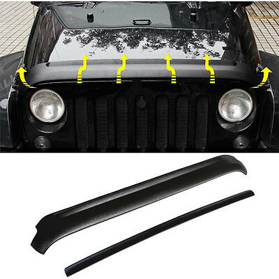 Hood Tailgate Protector Cover Set Fit for Jeep Wrangler JK 2004-2017 Armor ABS