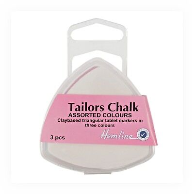 Tailors Chalk Pack Of 3 Plastic Storage Box Dressmaking Garments Alterations