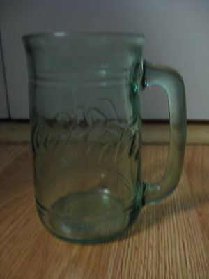 Coca Cola Coke Green Glass Mug with Handle
