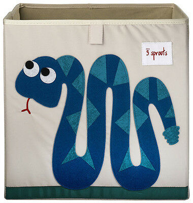 3 Sprouts Storage Box - Blue Snake