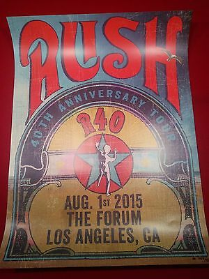 Rush LA Forum R40 Tour Lithograph Limited Number Neil Peart Moon MN100 Geddy Lee
