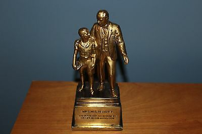 Hershey Collectable Milton S Hershey Brass Metal Statue