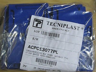 "Lot Of 10 Tecniplast Cage Data Card Holder W/Hook  3"" X 5"" Side Load New In Bag"