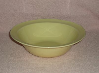 "T.S.& T. LuRay Pastel Sunny Yellow 8.75"" Serving Bowl with Rim"