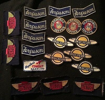 Hot Rod Greaser Patch Lot OLDSMOBILE Firestone Ferguson Heplers 20 NOS Patches