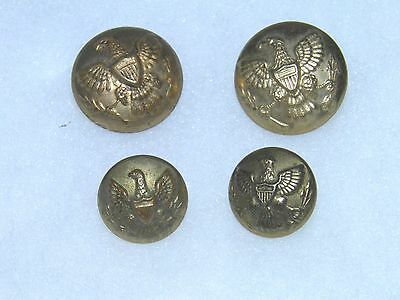 Antique Original Lot Of 4 U.S. Army Eagle Buttons -- Indian War