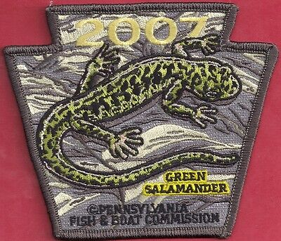 Pa Pennsylvania Fish Commission NEW 2007 Green Salamander NON GAME Series Patch