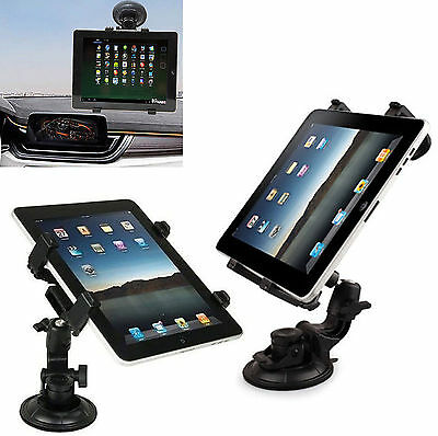 """Universal In Car Suction Mount 360° Holder iPad & Samsung Galaxy Tablet 7 To 11"""""""