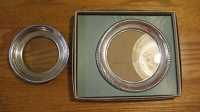 Set of Two Sterling Silver & Glass Dishes