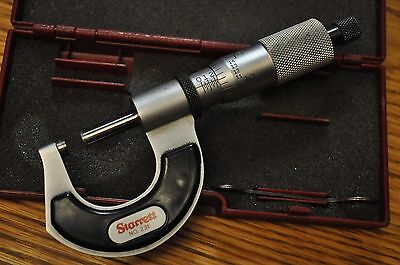 """L.S. Starrett Co. 0""""-1"""" Outside Micrometer with thermal insulated frame"""