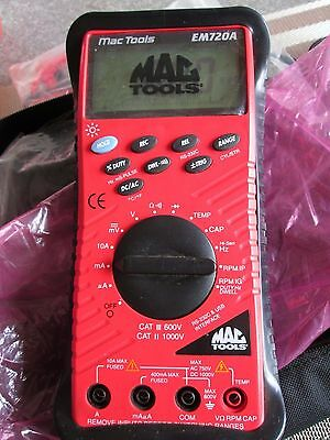 Mac Tools Automotive Multimeter Em720A Technicians Multimeter NEW RRP 360.00