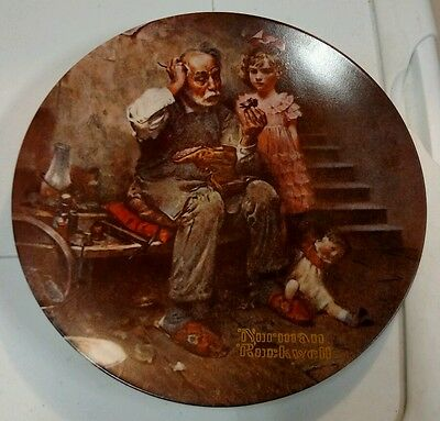 Norman Rockwell the cobbler plate