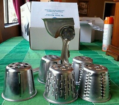 Vintage 1955 Duncan Hines Food and Vegetable Cutter with 5 CONES
