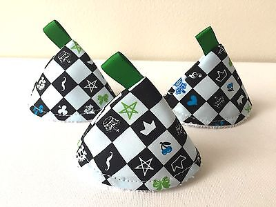 Blue Square - Pee Pee TeePee x 3. For Sprinkling Wee Wee. Baby Shower /Gift