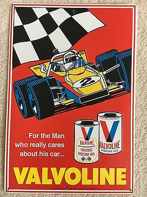 1970's vintage valvoline oil sign .