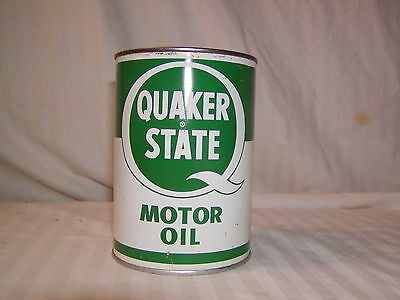 Vintage Green/white Quaker State Oil Can