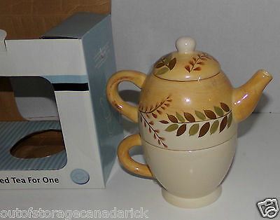 Handpainted Teapot & Cup for One ToGo - New In Box