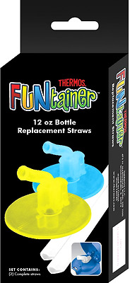 Thermos Replacement Straws for 12 Ounce Funtainer Bottle, Lime/Blue