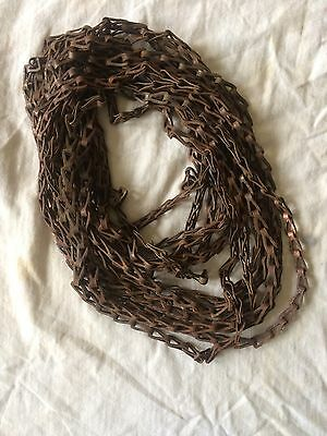 Used Vintage Sash Chain From Transom, Window Chain - 24 Ft.
