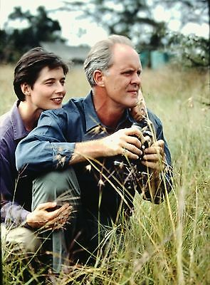 "ISABELLA ROSSELLINI & JOHN LITHGOW in ""Ivory Hunters"" - Original 35mm Slide"
