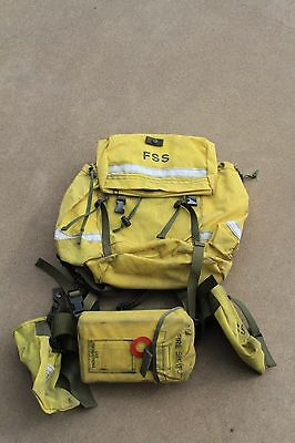 FSS Wildland Firefighter Pack w/ Harness, Belt, Accessory bags and Emerg Shelter