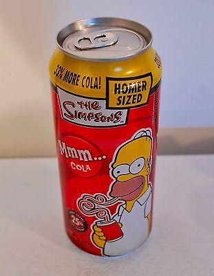 1 Can Cott Beverages The SIMPSONS 'Homer Sized ...Mmm Cola Canada 473mL. #C475