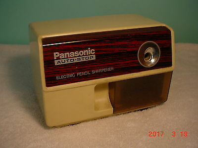 Vintage Panasonic Electric Pencil Sharpener Suction Mount Excellent Auto-Stop