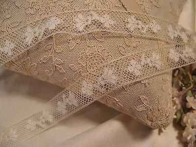 Antique French Cotton Insertion Lace Doll Craft (4)