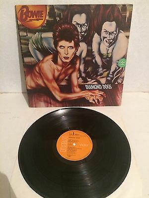 David Bowie - Diamond Dogs LP Vinyl APL 1-0576 1st Ger Press Foc EX-/EX-
