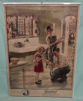 Vintage Standard Plumbing Fixtures Country Store Sign @1925 Color Lithograph 20