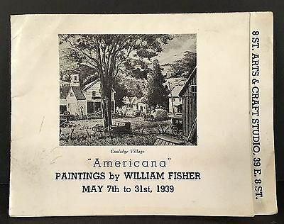 1939 WILLIAM FISHER Paintings Exhibition Catalog NYC 8th St. Artists Club