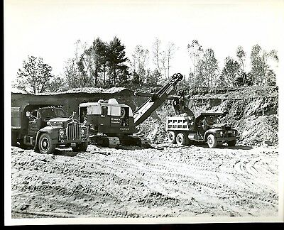 Real Photo Marion Power Shovel 43-M working Stilwater Maine