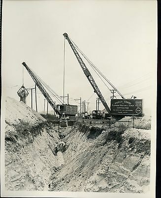 Real Photo of the Marion OSGOOD 1 1/4 and Victor Gas Shovels at South Bend IN