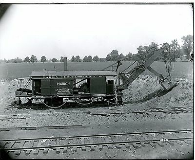 Real Photo Marion Steam Shovel Model 60 at work Cleveland Ohio Men Eating Lunch
