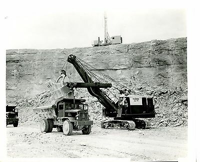 Real Photo Marion Power Shovel 101-M at work in a Stone Quarry