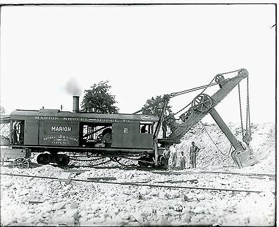 Real Photo Marion Steam Shovel Model 70 a Work National Lime & Stone Carey Ohio