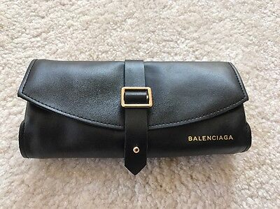 BALENCIAGA Sunglasses Leather Case Cleaning Wipes Brand New