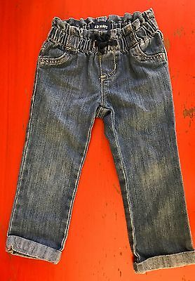 Toddler Girls Old Navy Denim Blue Jeans Size 2T EUC