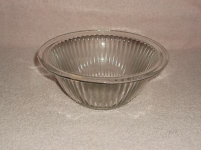 """Clear Glass Ribbed 6 3/4"""" Rolled Top Edge Mixing Bowl"""