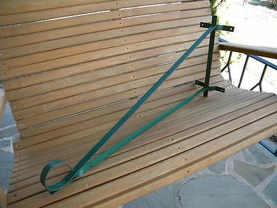 """Vintage Wrought Iron Hanging Sign Bracket~For Up To 26"""" Sign~Painted Green~Lot 1"""
