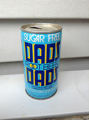 Rare Dads Sugar Free Root Beer Crimp Steel Soda Can Cans