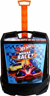 Hot Wheels 100 Car Carry Case with Wheels vehicle Storage Box