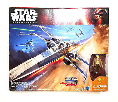 Star Wars The Force Awakens RESISTANCE X-WING Fighter Poe Dameron Hasbro New