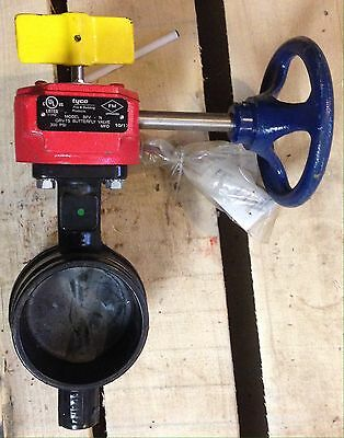"""Tyco Fire Tfp 4"""" Butterfly Valve With Tamper Switch Groove Bfv-N 59-300-F-040N"""