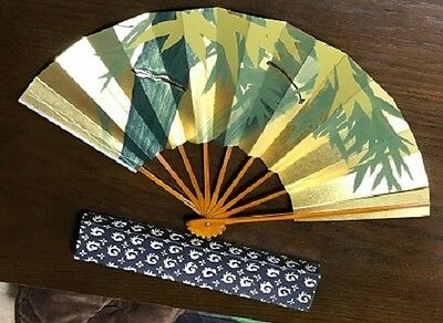 Japanese Folding fan Japanese dance Odori dance dance gold and silver bamboo